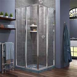 DreamLine Cornerview SHEN-8134340-01 Sliding Shower Enclosure in Chrome