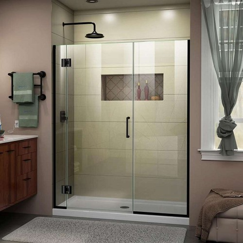 DreamLine Unidoor-X D12530572-09 Hinged Shower Door in Satin Black