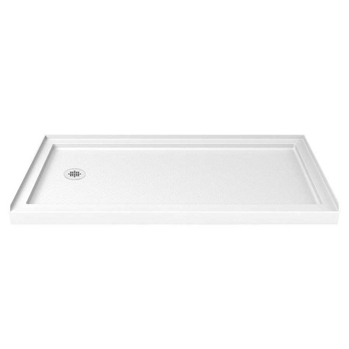 Dreamline Slimline Shower Base DLT-1134601 White - Left Hand Drain