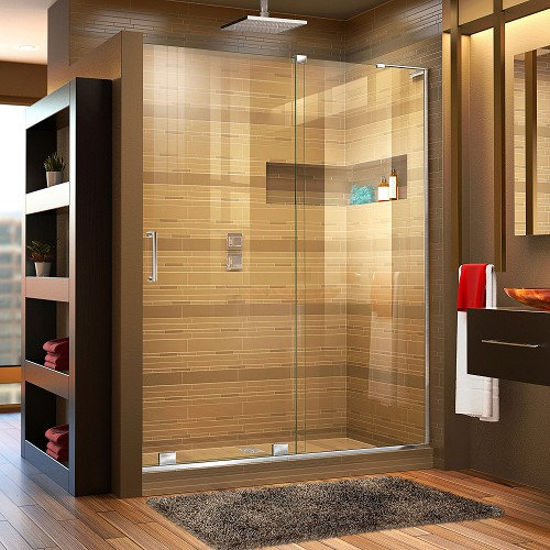 DreamLine Mirage-X SHDR-1948723R-01 Sliding Shower Door in Chrome; Right Wall Installation