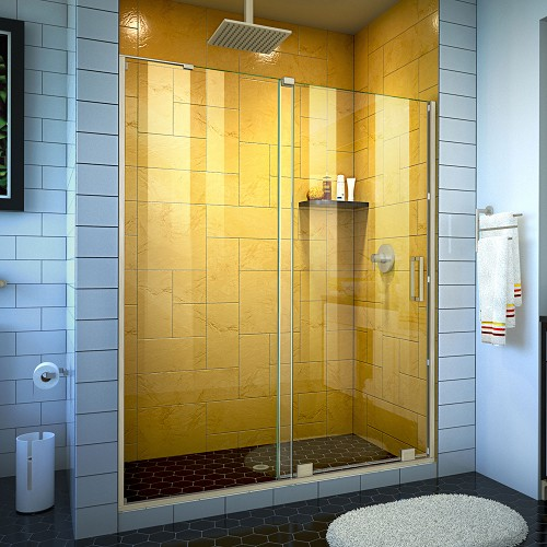 DreamLine SHDR-1960724-04 Mirage-Z 56-60 in. W x 72 in. H Frameless Sliding Shower Door in Brushed Nickel